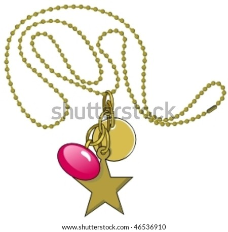 necklace - stock vector