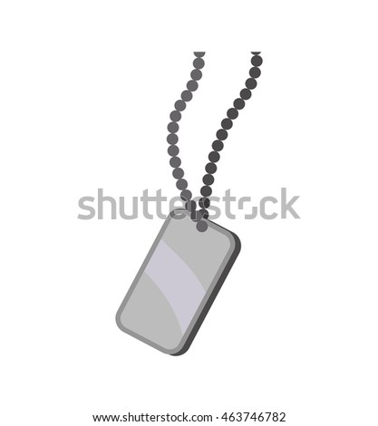 necklace armed forces military icon. Isolated and flat illustration. Vector graphic