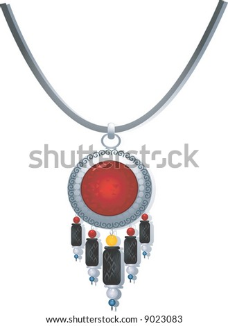 necklace with gemstone