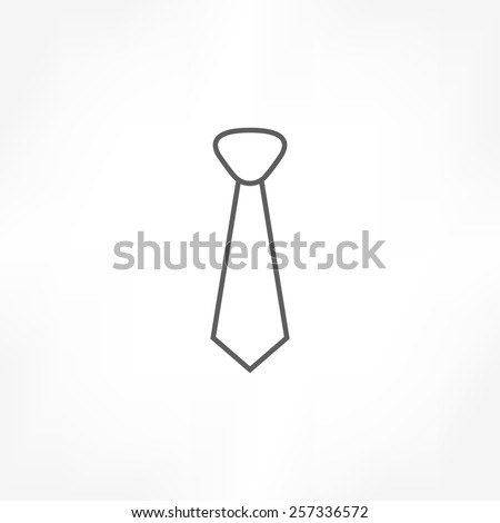 necktie icon - stock vector