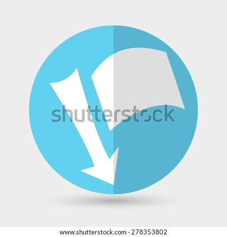 needle with a flag - stock vector