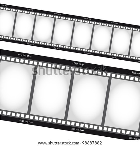 negative films over white background. vector - stock vector