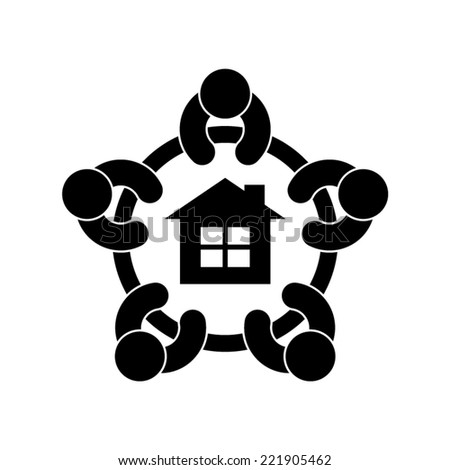 neighborhood concept vector icon - stock vector