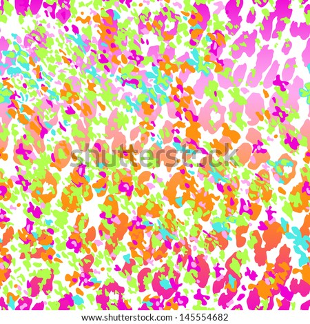 neon abstract animal ~ Vector~ seamless background - stock vector