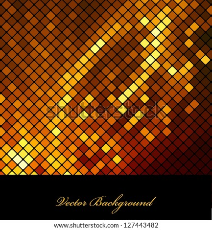 Neon abstract mosaic design on dark vector background - stock vector