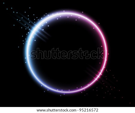 neon background - disc