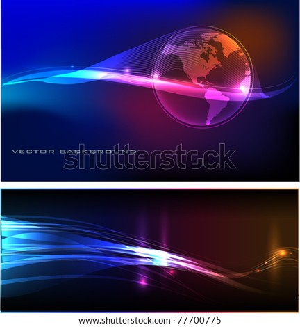 neon backgrounds - stock vector