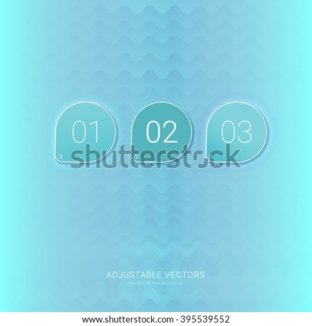 Neon Blue Buttons for Your Cool Flyer - stock vector