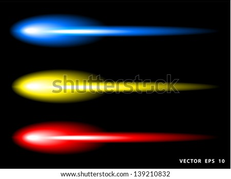 Neon colorful lights, Vector illustration template design - stock vector