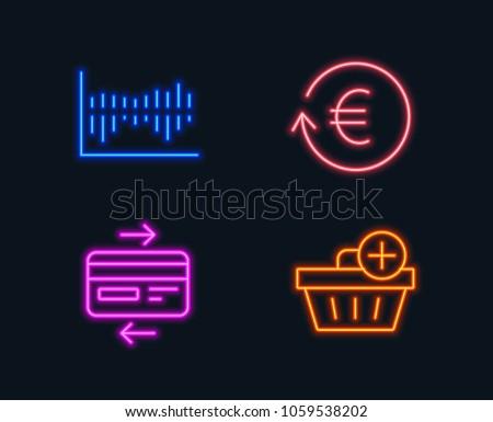 Neon Lights Set Exchange Currency Column Stock Vector 1059538202