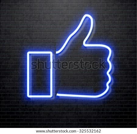 neon like - stock vector