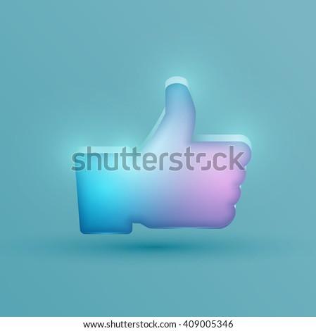 Neon like symbol, vector - stock vector