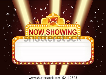 Neon now showing sign - stock vector