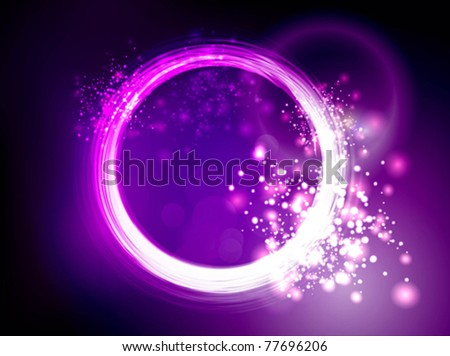 Neon pink purple circles background - stock vector