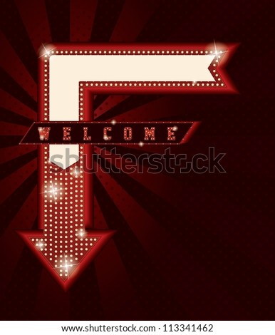 Neon sign - stock vector