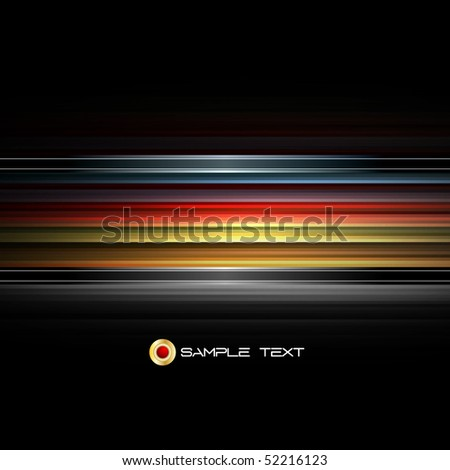 Neon Stripes Design - EPS10 Abstract Vector Background - stock vector