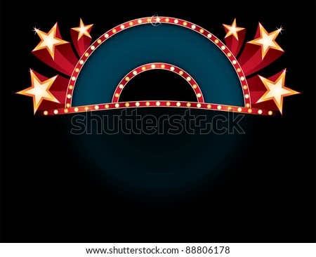 Neon with stars - stock vector
