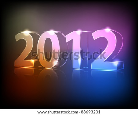 Neon 2012 year vector illustration