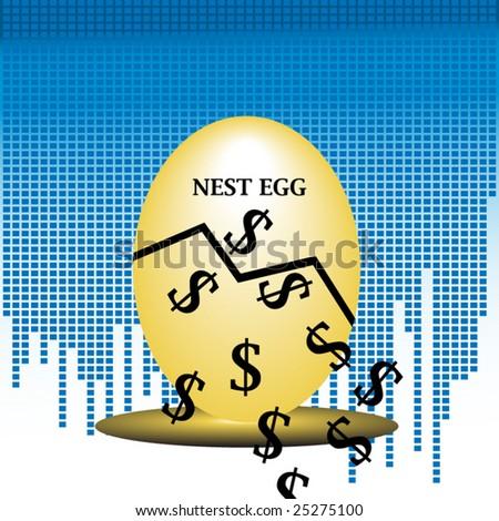 Nest egg concept - stock vector