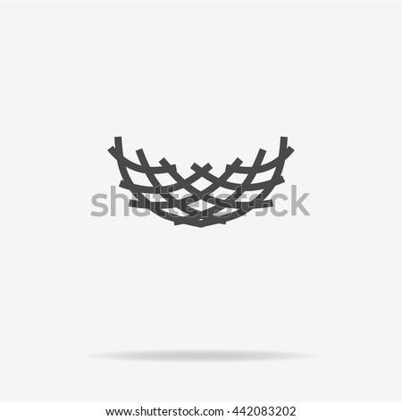 Nest icon. Vector concept illustration for design. - stock vector