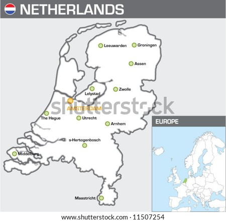 Netherlands - stock vector
