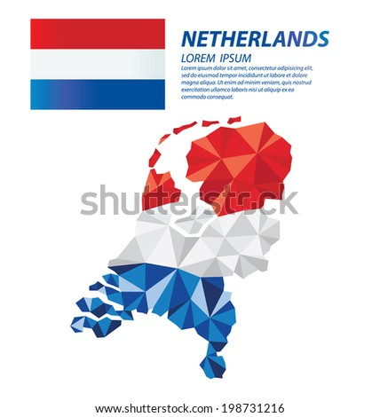 Netherlands geometric concept design - stock vector