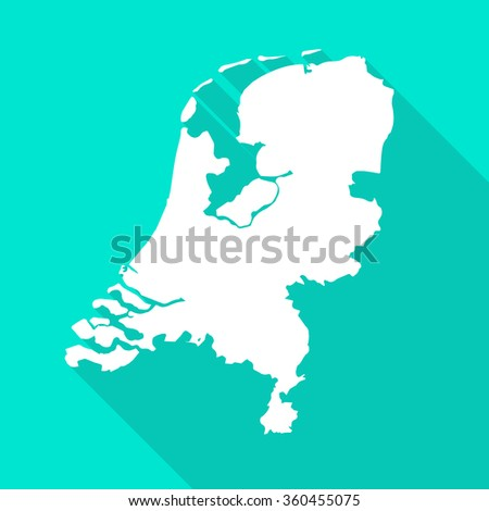 netherlands holland map flat simple stylewith long stock
