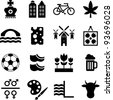 Netherlands pictograms - stock vector