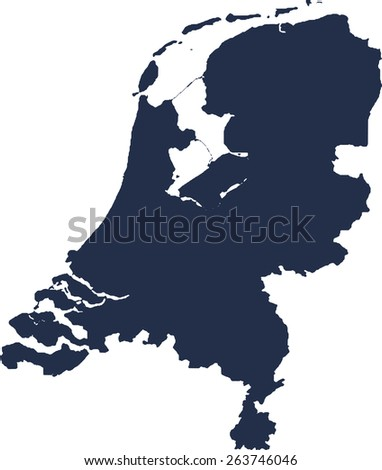 Netherlands Vector map. High detailed.  - stock vector