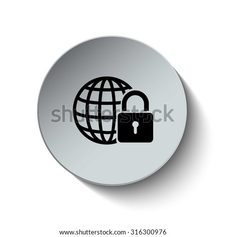 Network and Internet Security icon. Vector Illustration. EPS10 - stock vector