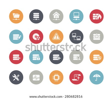 Network and Server Icons // Classics Series - stock vector