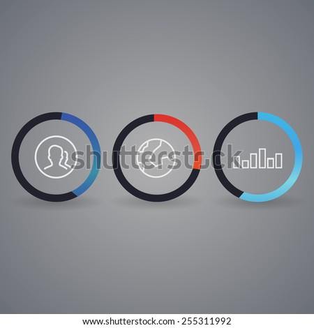 Network background with nodes and social media, communication icons  - stock vector