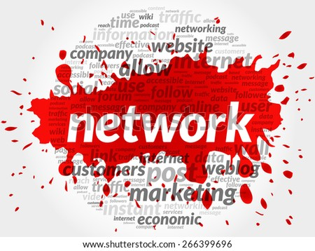 NETWORK business concept in word tag cloud - stock vector