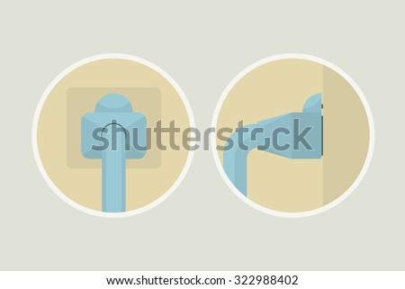Network Cable Connect Icon. Vector Illustration. - stock vector