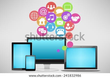 Network communication - stock vector
