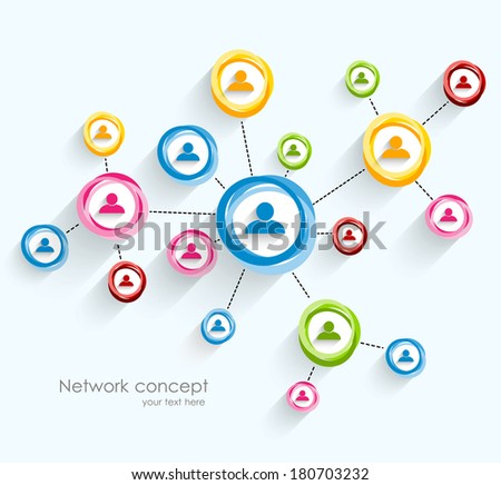 Network concept - stock vector