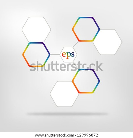 Network connected speech diagram. Color  presentations with text box - stock vector