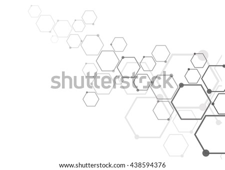 Network connection and molecular structure. - stock vector