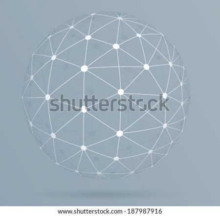 Network connections, global digital connections.  - stock vector