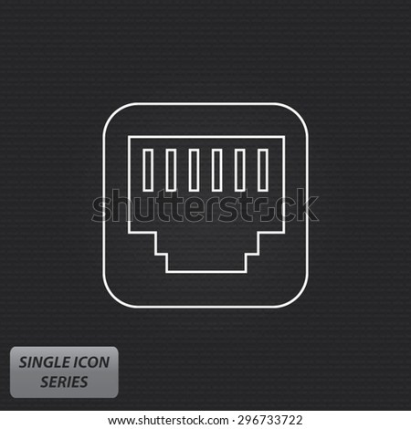 Network Connector - Single Icon Series - stock vector