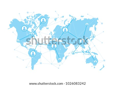 Network connecttion over world map background stock vector hd network connecttion over world map background communication concept vector gumiabroncs Image collections