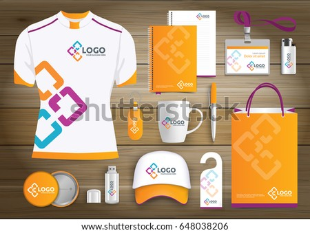 Items network gift items color promotional souvenirs design for link corporate identity with technology lines negle Choice Image