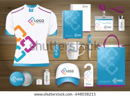 Network gift items color promotional souvenirs stock vector network gift items color promotional souvenirs design for link corporate identity with technology lines negle Image collections