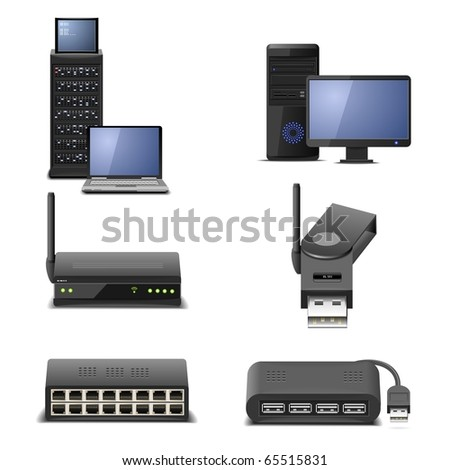 network hardware part 2 - stock vector