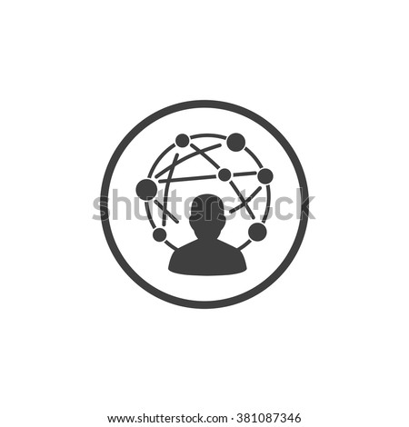 Network Icon, Network Icon Eps10, Network Icon Vector, Network Icon Eps, Network Icon Jpg, Network Icon Picture, Network Icon Flat, Network Icon App, Network Icon Web, Network Icon Art - stock vector