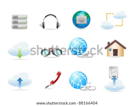 Network Icon sets - stock vector