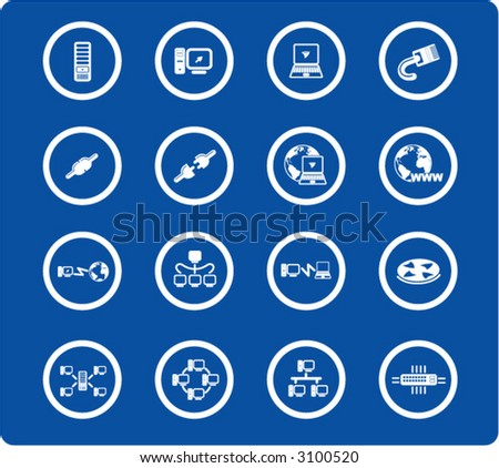 Network iconset - stock vector