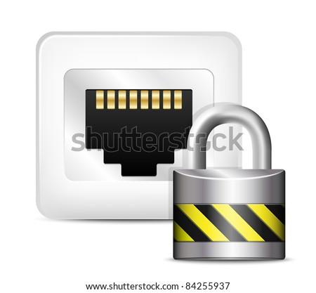 Network Security Icon. Vector - stock vector