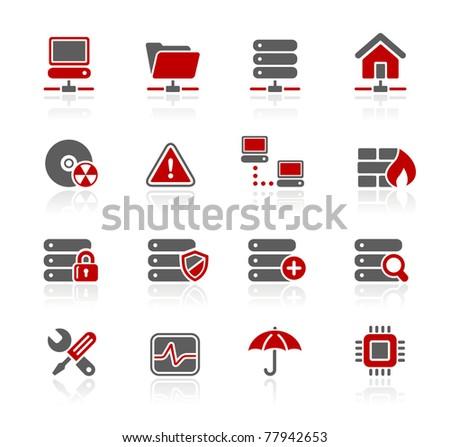 Network, Server & Hosting Icons // Redico Series - stock vector