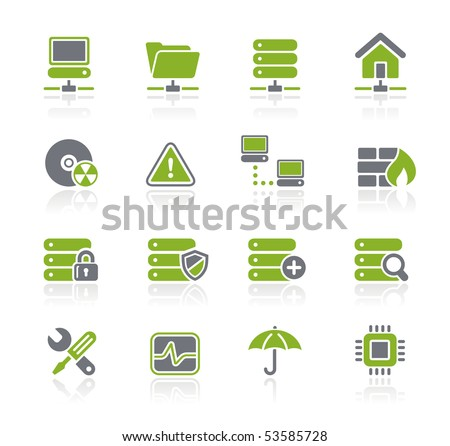 Network & Server // Natura Series - stock vector